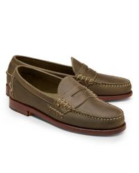 Brooks Brothers | Green Rancourt Co Beef Roll Penny Loafers for Men | Lyst