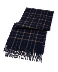 Brooks Brothers | Blue Tattersall Camel Hair Scarf for Men | Lyst