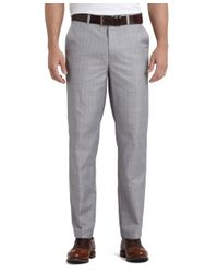 Brooks Brothers Blue St Andrews Links Plain-front Mini Houndstooth Pants for men