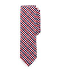 Brooks Brothers Blue Tattersall Slim Tie for men