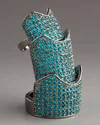 Eddie Borgo - Metallic Hinged Gunmetalplated Pavé Crystal Ring - Lyst