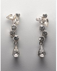 Givenchy Metallic Silvertone Linear Vine Earrings