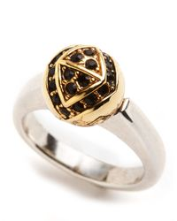 House of Harlow 1960 - Metallic Engraved Orb Ring - Lyst
