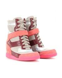 Marc By Marc Jacobs - Pink Kisha Hidden Wedge Sneakers - Lyst