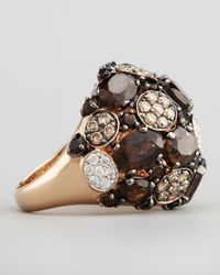 Roberto Coin | Brown Shanghai Diamond Smoky Quartz Ring | Lyst