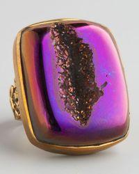Stephen Dweck | Purple Druzy Agate Ring | Lyst
