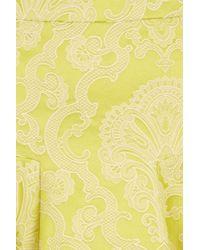 TOPSHOP Yellow Coord Lime Jacquard Skirt