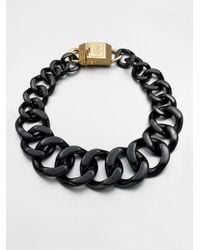 Tory Burch | Black Graduated Link Chain Necklace | Lyst