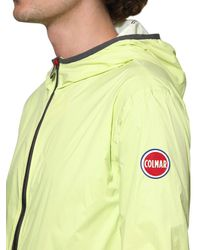 Colmar Green Resin Coated Nylon Casual Jacket for men