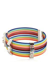 Delfina Delettrez Multicolor Zircon Pearl Silver Infinity Bracelet