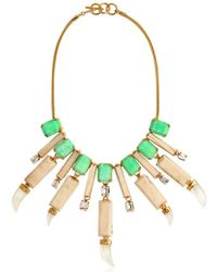 House of Lavande | Green Everglades Wood Collar Necklace | Lyst