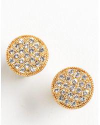 kate spade new york - Metallic Crystal Goldtone Stud Earrings - Lyst