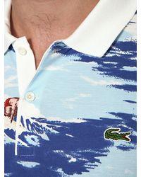 Lacoste Multicolor Cotton Piquet Printed Polo for men