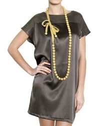 Parronchi - Yellow Cashmere Pearl Necklace - Lyst