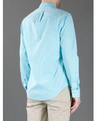 Polo Ralph Lauren Blue Button Down Checked Shirt for men