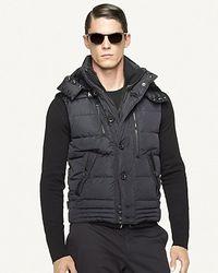 Ralph Lauren Black Label Black Metropolis Down Vest for men