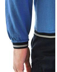 Stone Island Blue Cotton Fleece Garment Dyed Sweatshirt for men
