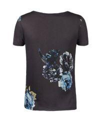AllSaints Blue Peony Tshirt