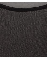 AllSaints Black Sheer Jersey Vest