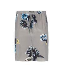 AllSaints Gray Peony Shorts