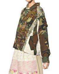 Antonio Marras Green Camouflage Cotton Gabardine Jacket