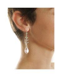 Cathy Waterman - Pink Diamond Leaf Rose Quartz Wheat Earrings - Lyst