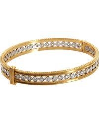 Cathy Waterman | Metallic Platinum Gold Diamond Bangle | Lyst
