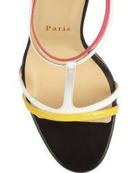 Christian Louboutin | Multicolor Arnold 100 Patent Leather Sandals | Lyst