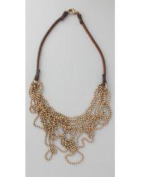 Club Monaco Metallic Messy Ball Chain Necklace