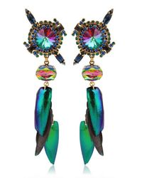 Erickson Beamon Green Aquarela Do Brasil Earrings