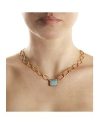Irene Neuwirth - Metallic Rose Gold Large Link Necklace with Boulder Opal Pendant - Lyst
