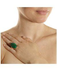 Jack Vartanian Green Malachite Bombe Ring