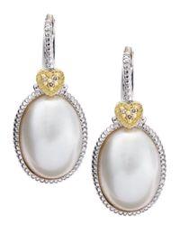Judith Ripka | White Mabe Pearl Drop Earrings | Lyst