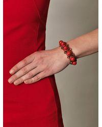 Lanvin | Red Maria Felix Bangle | Lyst