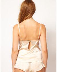 Mimi Holliday by Damaris - Natural Lace Silk Satin Cami - Lyst