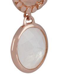 Monica Vinader Metallic Mini Luna Rose Goldvermeil Moonstone Earrings