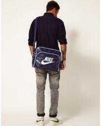 Nike Blue Heritage Messenger Bag for men