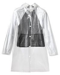 Opening Ceremony White Transparent Pvc Raincoat