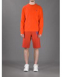 Polo Ralph Lauren Orange Crew Neck Sweatshirt for men