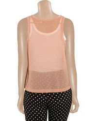 See By Chloé Pink Ruffled Silk Top