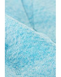 TOPSHOP Blue Premium Metallic Origami Skirt