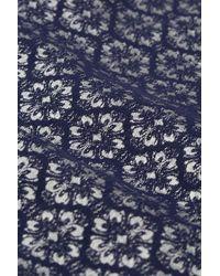 TOPSHOP Blue Tile Geo Jacquard Trousers