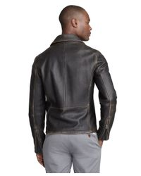 Brooks Brothers Black Motorcycle Jacket for men