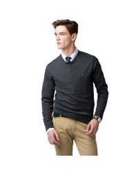 Tommy Hilfiger Gray Pacific Vneck Sweater for men