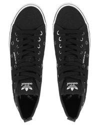 Adidas Black Honey Mid Ef Eyelet Trainers