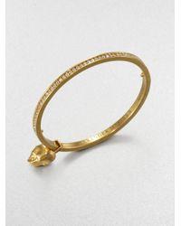 Alexander McQueen - Metallic Swarovski Crystal Skull Bangle Bracelet - Lyst