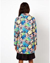 ASOS Collection Multicolor Asos Floral Printed Coat