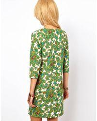ASOS Green Asos Shift Dress in Paisley Print