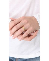 Gorjana | Pink Shimmer Bar Ring To Midi Connector - Clear/Gold | Lyst