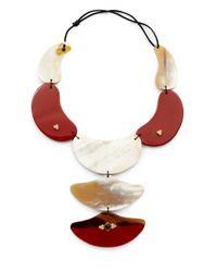 Kevia - Lacquered Horn Smoky Quartz Necklace - Lyst